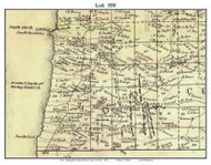 Lodi, New York 1850 Custom Old Town Map with Homeowner Names  - Reprint - Genealogy - Seneca Co.