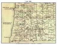 Lodi, New York 1850 Custom Old Town Map with Homeowner Names  - Reprint - Genealogy - Seneca Co.