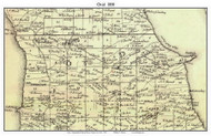 Ovid, New York 1850 Custom Old Town Map with Homeowner Names  - Reprint - Genealogy - Seneca Co.