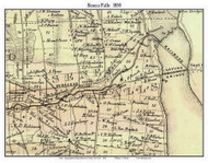 Seneca Falls, New York 1850 Custom Old Town Map with Homeowner Names  - Reprint - Genealogy - Seneca Co.