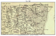 Tyre, New York 1850 Custom Old Town Map with Homeowner Names  - Reprint - Genealogy - Seneca Co.