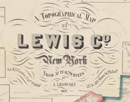 Lewis Co., New York 1857 Old Town Map - NOT FOR SALE - Lewis Co.