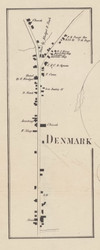 Denmark Village, New York 1857 Old Town Map Custom Print with Homeowner Names - Genealogy Reprint - Lewis Co.