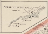 Sterlingbush, New York 1857 Old Town Map Custom Print with Homeowner Names - Genealogy Reprint - Lewis Co.