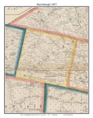 Harrisburgh, New York 1857 Old Town Map Custom Print with Homeowner Names - Genealogy Reprint - Lewis Co.