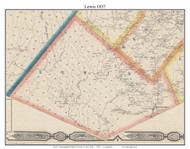 Lewis, New York 1857 Old Town Map Custom Print with Homeowner Names - Genealogy Reprint - Lewis Co.