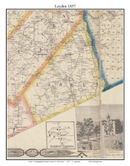 Leyden, New York 1857 Old Town Map Custom Print with Homeowner Names - Genealogy Reprint - Lewis Co.