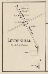 Leydenhill, New York 1857 Old Town Map Custom Print with Homeowner Names - Genealogy Reprint - Lewis Co.