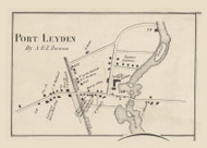Port Leyden, New York 1857 Old Town Map Custom Print with Homeowner Names - Genealogy Reprint - Lewis Co.