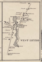 West Leyden, New York 1857 Old Town Map Custom Print with Homeowner Names - Genealogy Reprint - Lewis Co.