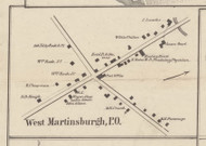 West Martinsburgh, New York 1857 Old Town Map Custom Print with Homeowner Names - Genealogy Reprint - Lewis Co.