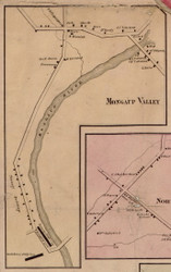 Mongaup Valley, New York 1856 Old Town Map Custom Print - Sullivan Co.