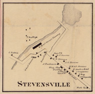 Stevensville, New York 1856 Old Town Map Custom Print - Sullivan Co.