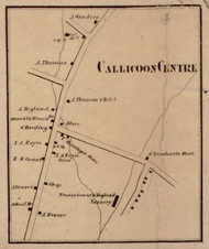 Callicoon Centre, New York 1856 Old Town Map Custom Print - Sullivan Co.