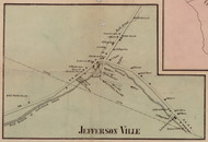 Jefferson Ville, New York 1856 Old Town Map Custom Print - Sullivan Co.