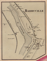 Barryville, New York 1856 Old Town Map Custom Print - Sullivan Co.