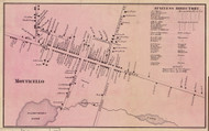 Monticello, New York 1856 Old Town Map Custom Print - Sullivan Co.