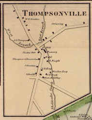 Thompsonville, New York 1856 Old Town Map Custom Print - Sullivan Co.