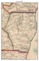 Broome, New York 1856 Old Town Map Custom Print - Schoharie Co.