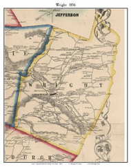 Wright, New York 1856 Old Town Map Custom Print - Schoharie Co.
