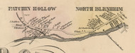 Patchin Hollow and North Blenheim, New York 1856 Old Town Map Custom Print - Schoharie Co.