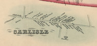 Carlisle Village, New York 1856 Old Town Map Custom Print - Schoharie Co.