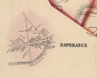 Esperance Village, New York 1856 Old Town Map Custom Print - Schoharie Co.