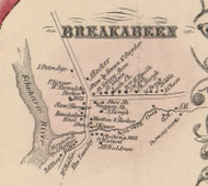 Breakabern, New York 1856 Old Town Map Custom Print - Schoharie Co.