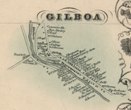 Gilboa Village, New York 1856 Old Town Map Custom Print - Schoharie Co.