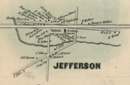 Jefferson Village, New York 1856 Old Town Map Custom Print - Schoharie Co.