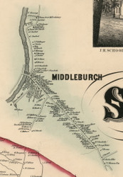 Middleburgh Village, New York 1856 Old Town Map Custom Print - Schoharie Co.