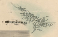 Richmondville Village, New York 1856 Old Town Map Custom Print - Schoharie Co.