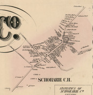 Schoharie C.H., New York 1856 Old Town Map Custom Print - Schoharie Co.