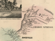 Sharon Springs and Rockville, New York 1856 Old Town Map Custom Print - Schoharie Co.