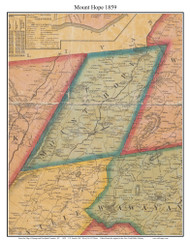 Mount Hope, New York 1859 Old Town Map Custom Print with Homeowner Names - Orange Co.