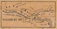 Salisbury Mills, New York 1859 Old Town Map Custom Print with Homeowner Names - Orange Co.