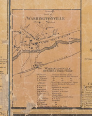 Washingtonville, New York 1859 Old Town Map Custom Print with Homeowner Names - Orange Co.