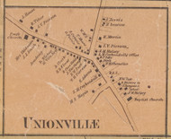 Unionville, New York 1859 Old Town Map Custom Print with Homeowner Names - Orange Co.
