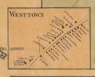 Westtown, New York 1859 Old Town Map Custom Print with Homeowner Names - Orange Co.
