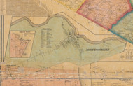 Montgomery Villae, New York 1859 Old Town Map Custom Print with Homeowner Names - Orange Co.
