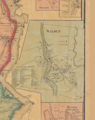 Walden, New York 1859 Old Town Map Custom Print with Homeowner Names - Orange Co.