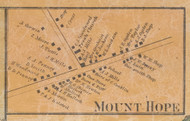 Mount Hope Village, New York 1859 Old Town Map Custom Print with Homeowner Names - Orange Co.