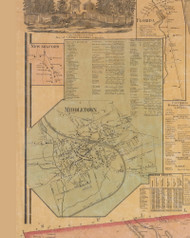 Middletown, New York 1859 Old Town Map Custom Print with Homeowner Names - Orange Co.