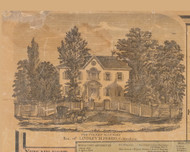 Ferris Residence, Coldenham New York 1859 Old Town Map Custom Print with Homeowner Names - Orange Co.