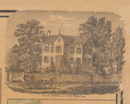 Weed Residence, Middle Hope New York 1859 Old Town Map Custom Print with Homeowner Names - Orange Co.