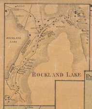 Rockland Lake, New York 1859 Old Town Map Custom Print with Homeowner Names - Rockland Co.