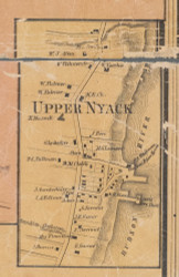 Upper Nyack, New York 1859 Old Town Map Custom Print with Homeowner Names - Rockland Co.
