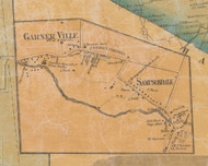 Garnerville & Sampsondale, New York 1859 Old Town Map Custom Print with Homeowner Names - Rockland Co.
