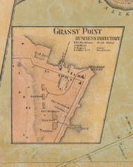 Grassy Point, New York 1859 Old Town Map Custom Print with Homeowner Names - Rockland Co.