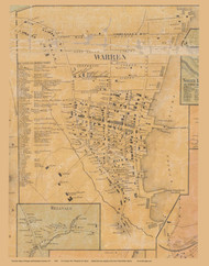 Haverstraw Village formerly Warren, New York 1859 Old Town Map Custom Print with Homeowner Names - Rockland Co.